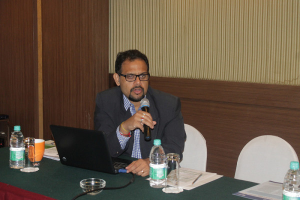 Mr. Rijit Sengupta presenting a paper on the benefits of competition