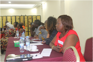 Panelists at the two day workshop Representing UN women & Oxfam