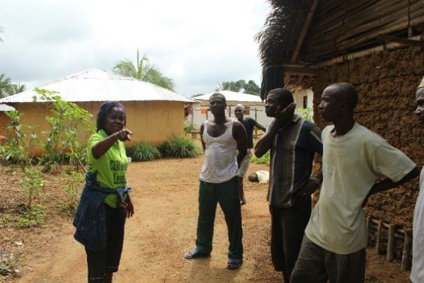 Payweyne and a group from Borma talking about possible latrine improvments