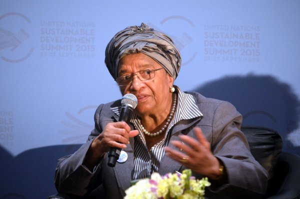 President Sirleaf makes intervention at the Panel Discussion on Primary Healthcare