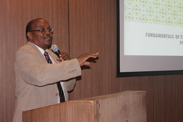 Prof. Samuel Wangwe opening the workshop