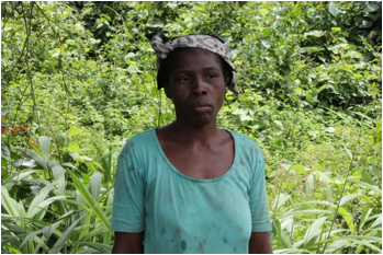 Rina Wesseh, one of the Heads of the women Saving Groups