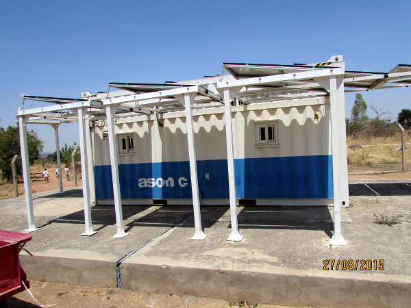 Solar installation at Mbola village