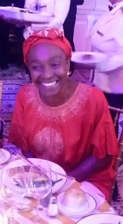 AAI's distinguished guest, Sierra Leonean born Mahen Bonetti - executive director & founder of New York African Film Festival enjoys dinner at Africa-America Institute's Future Leaders Legacy Awards Gala