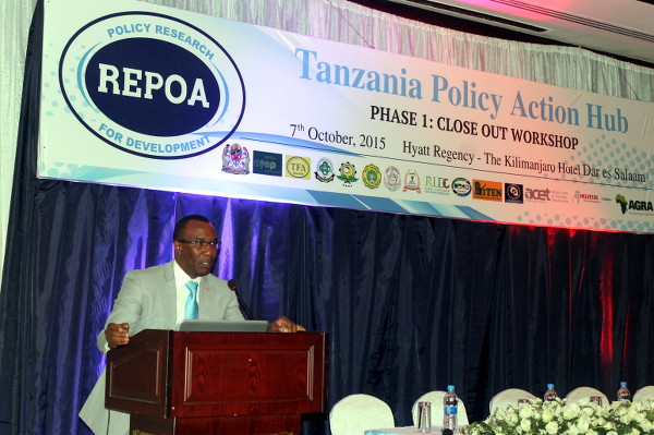 An independent researcher and consultant Mr.  Godfrey Bwana presenting a summary of events