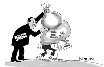 Cartoons showing power management and corruption in the power sector all blames directed to the Tanzania Electrical Supply Company –TANESCO