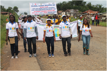 Global Handwashing Day Parade in Margibi County