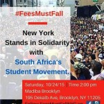 New York Imbizo Committee rallies to support South African students