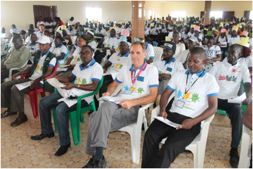Participants at the indoor Program marking Global Handwashing Day 2015 in Margibi County
