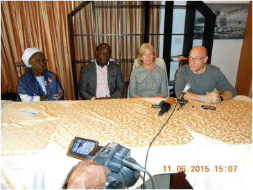 Press Conference by WaterAid at the close of a Meeting with Stakeholdersto discuss the new Strategic Direction for theTransboundaryProgramme (Liberia:Sierra Leone)