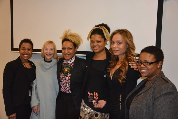 er Image Forum 2015 panelists and speakers at Fordham University in Bronx, New York. From left - right: Donisha Prendergast Artist,Actor,Activist, Rasta: A Soul's Journey; Fran Tarr Founder, Director- Breaking Walls; Helene Faussart Singer,Songwriter, Les Nubians; Ntumba Mukendi, Founder Ntumba Ntumba Apparel,Alexis Blakely CEO, Progeny and Moikgantsi Kgama Founder, ImageNation Cinema Foundation
