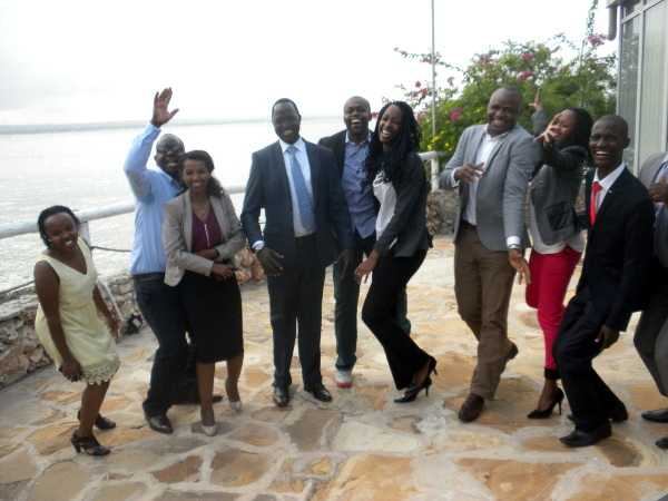 The Eastern Africa group sharing a light moment after the seminar