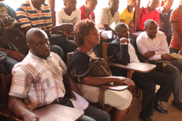 University of Liberia Students and others at Palaver Hut discussion during the visit of Oxfam Pan African Programme Delegation