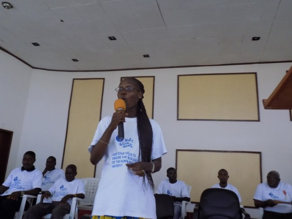 Advocacy & Communications Coordinator at the Liberia WASH Consortium, Robertetta T. Rose