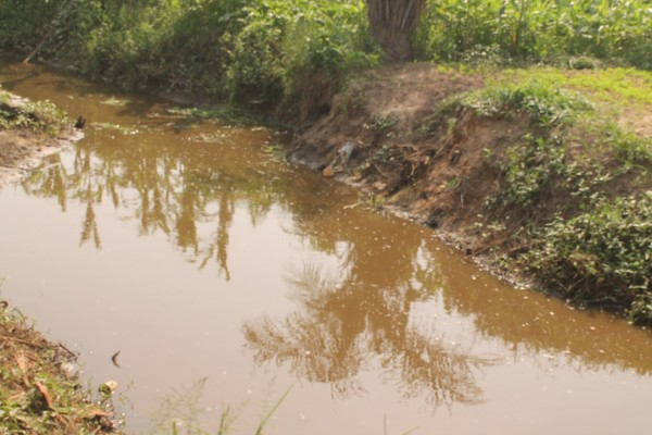 Drainage dug by the MCC where contaminated water  is flushed into some parts of  the community