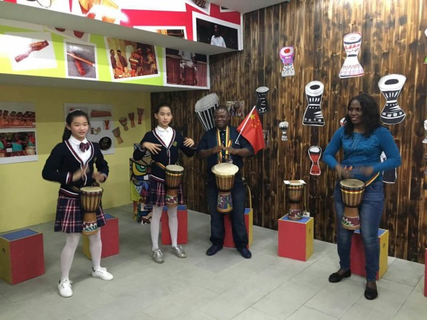 Blending of cultures between China and Africa, sharing the rhythms