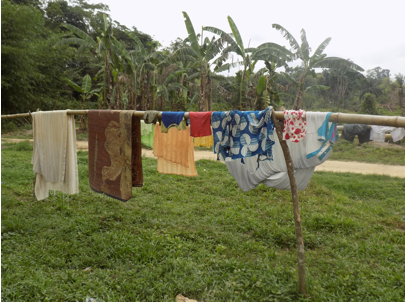 Clothes line used by community residents
