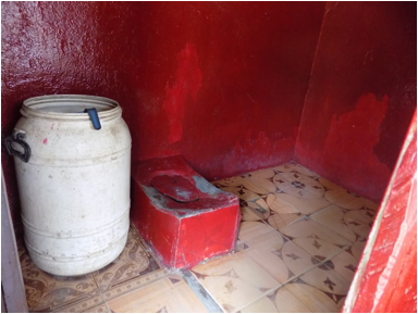 One of the latrines in Karnga Town built by a family moved by the CLTS