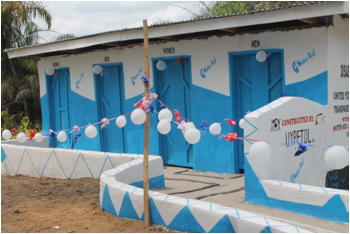 Latrine Facility Constructed by UYPETDL with funding from WaterAid
