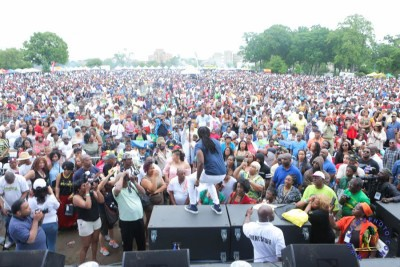 Crowd shot from Oracabessa Festival 2016