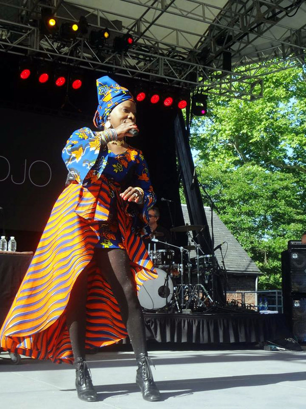 Angelique Kidjo performs at 2015 Summerstage Festage Festival in Central Park, New York City.  Credit:dk's 4tos.