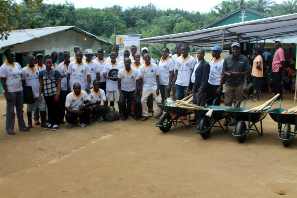Group photo at the close of the CLTS celebration in Margibi over the weekend