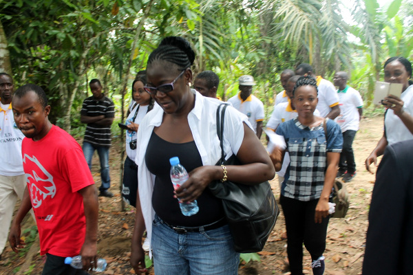 LWI-Liberia Country Director, Austin Nyaplue and Regional Director, Ruth Okowa on inspection