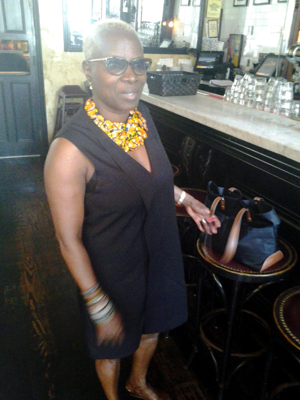 Multiple Grammy winner Angelique Kidjo poses in Provini Restaurant after an interview for this story