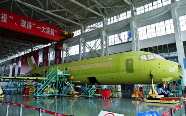 Air craft manufacturing in Shanghai by the COMAC company (photo by courtesy of COMAC)