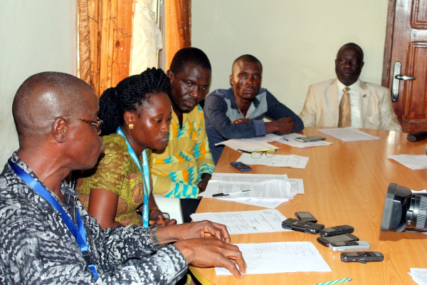 CSO Actors, WaterAid Staff and WASH Coordinator at the Ministry Health