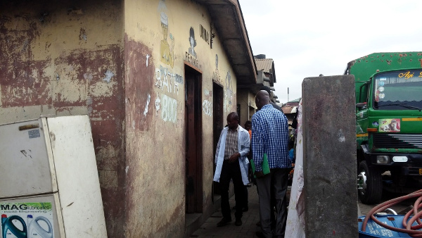 Field Visit to one of the toilet facilities at the Agbogbloshine Market
