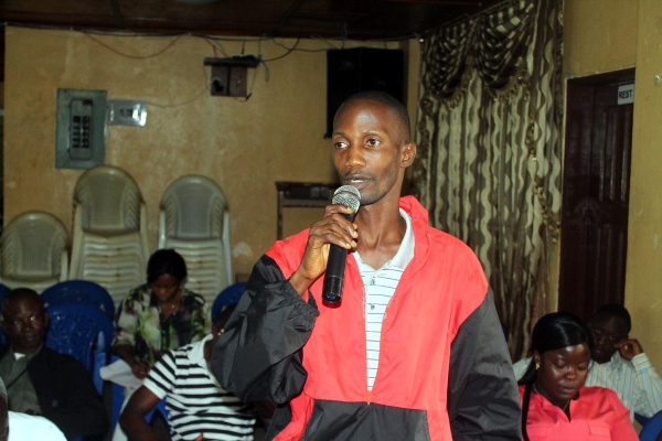 Participant making remarks at the program