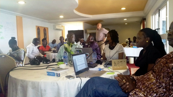 Participants of the 5-Day Sanitation Advocacy Workshop organized by WaterAid West Africa