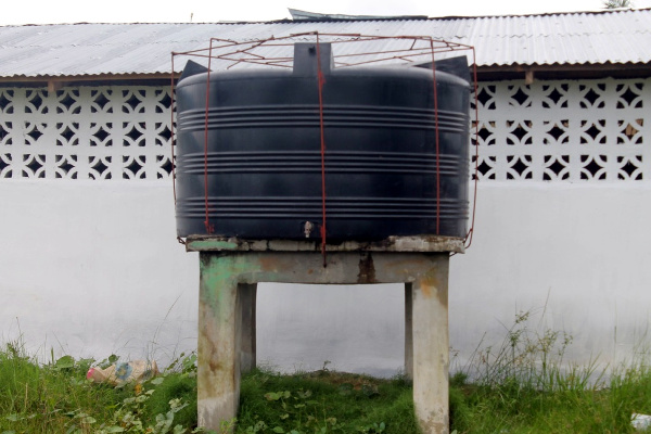 Water Tank Installed by Government to supply safe drinking water to over 16,000 residents