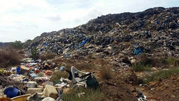 Whein Town huge garbage site, the issue of health threat