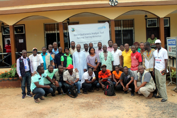 Participants at the just ended WASH Bottleneck Analysis Workshop in Buchanan, Grand Bassa County