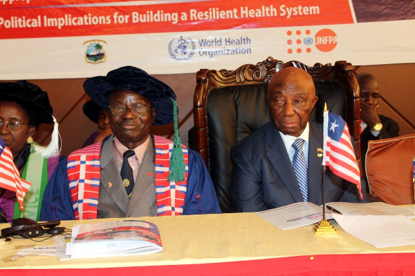Vice President Joseph Boakai and the Acting President of the College Dr. Irvin Kamanu