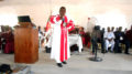 Bishop G. Abraham Powell of the Evangelical Congregational Church of Liberia (ECCOL), delivering a Special Message at the close of the Conference on Sunday