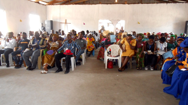 Partial view of the Congregation attending the close of the 48th Liberia Annual Conference of the Evangelical Congregational  Church of Liberia (ECCOL)