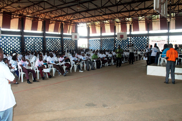 Cross section of participants, mostly students at the program