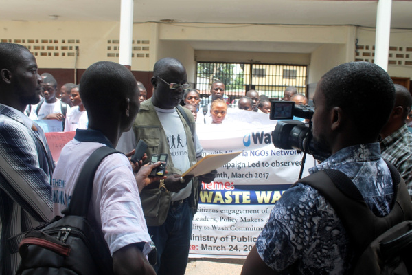 Reading of CSOs WASH Petition at the Public Works Ministry