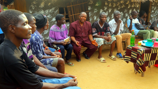 CODES CEO holding WASH Meeting with residents of Yeatiken, Grand Kru