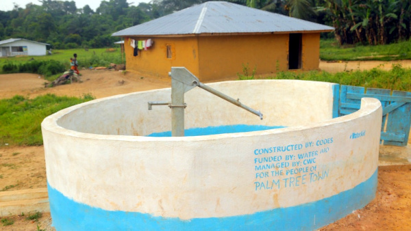 Palm Tree Town in Grand Kru County benefits new hand pump