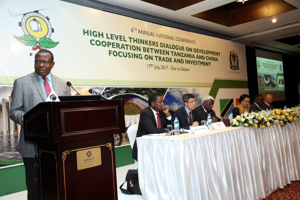 Minister for Finance and Planning Dr. Philip Mpango delivering an inaugural speech on behalf of Tanzania's Vice President Ms. Samia Suluhu Hassan
