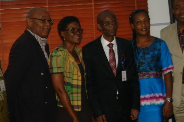 From left Dr. Tony Wemton, Agriculture Consultant, Chinyere Ogbonna, Reporter Federal Radio Corporation of Nigeria, FRCN, Vice Chancellor Babcock University, Professor Ademola Tayo, Founder, Mushrooms Development Foundation, MDF- N Chi Tola and Head of Department of Agriculture, Babcock University, Professor Ademola Tayo