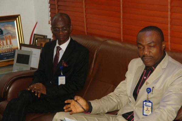 The Vice Chancellor,Babcock University, Prof. Ademola Tayo, and Head, Department of Agriculture Babcock University, Prof Cyril Nwagburuka at the meeting