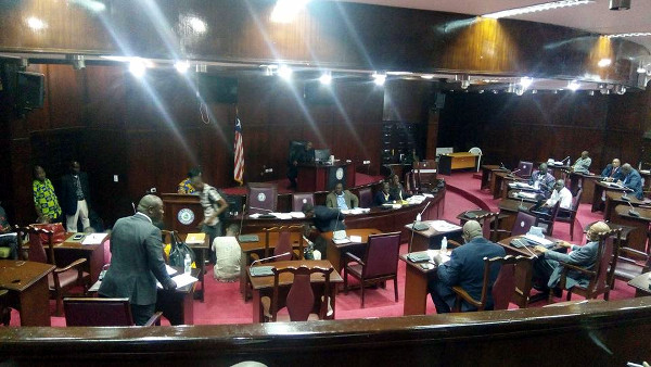 Liberian Senate during the passage of the WASH Commission Act