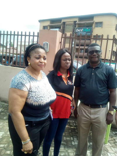 Business Manager Ixolo, Ikeja Electric, her colleague and Managing Director XT Monitor, Mr. kayode Adeotun