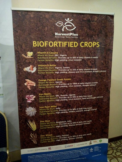 A list of bio-fortified crops already in use in Nigeria and elsewhere