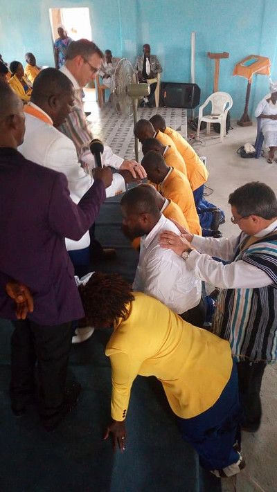 Consecration of ECCOL Gospel Ministers during the 49th Annual  Conference of the Evangelical Congressional Church of Liberia